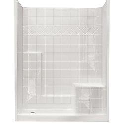 Ella Standard 32-Inch x 60-Inch x 77-Inch 3-Piece Shower Stall in White
