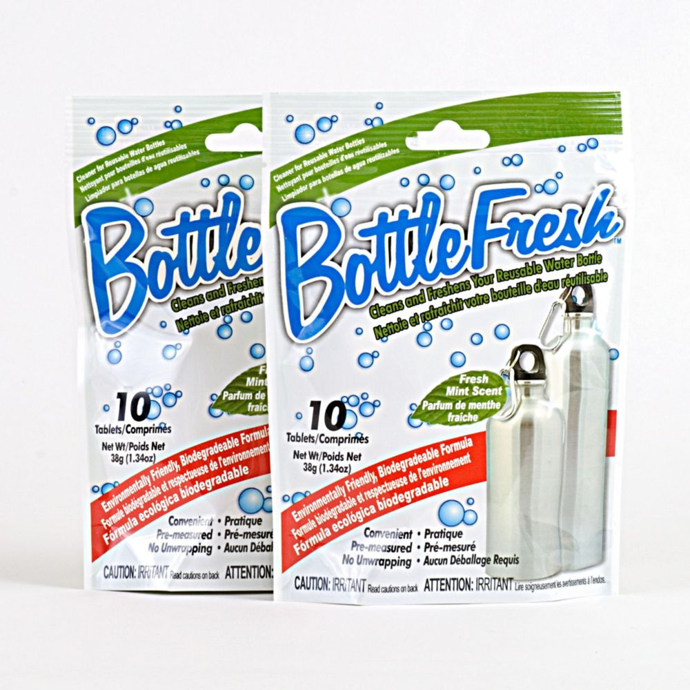 Water Bottle Cleaner & Refresher - 2 Pack