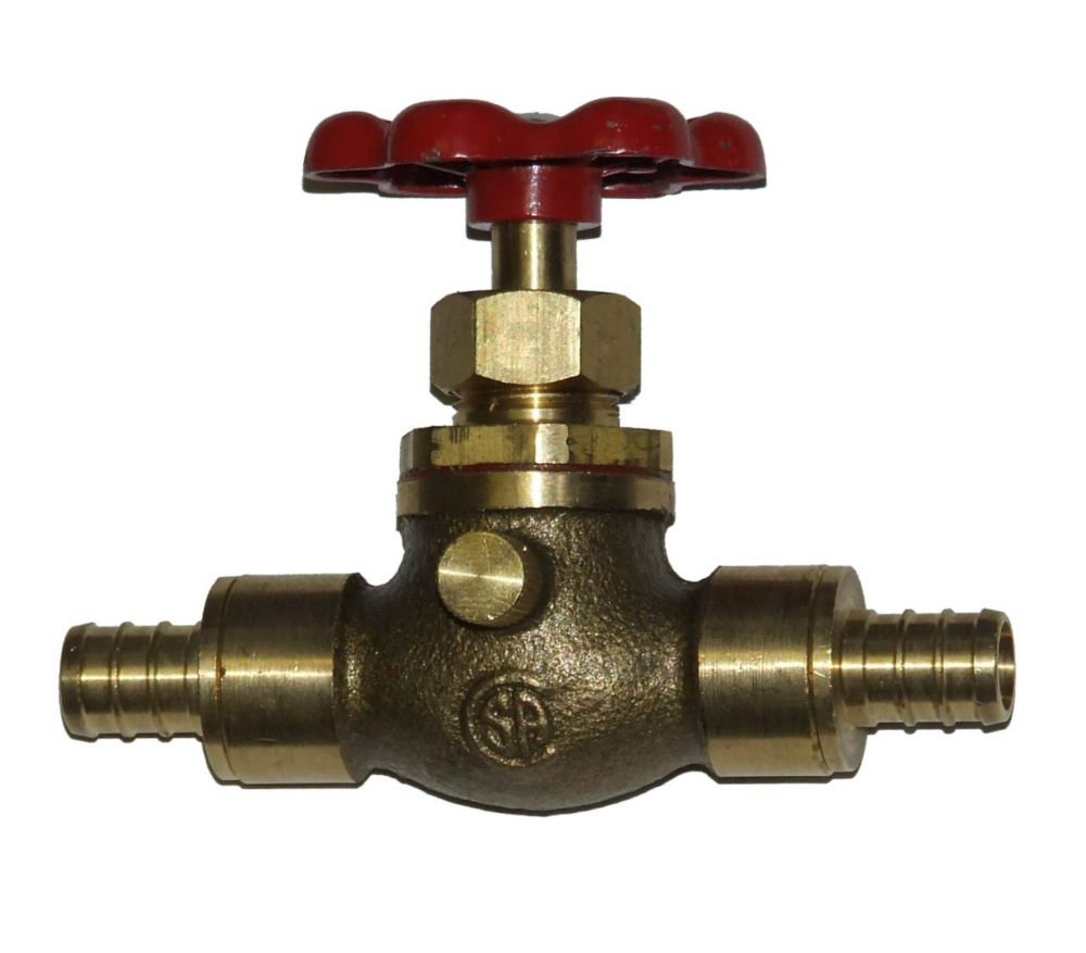 Pex Stop Valve with Waste - 1/2 Inch 1550244LF in Canada