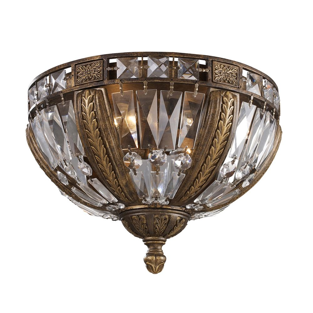 4 Light Ceiling Mount Antique Bronze Flush Mount