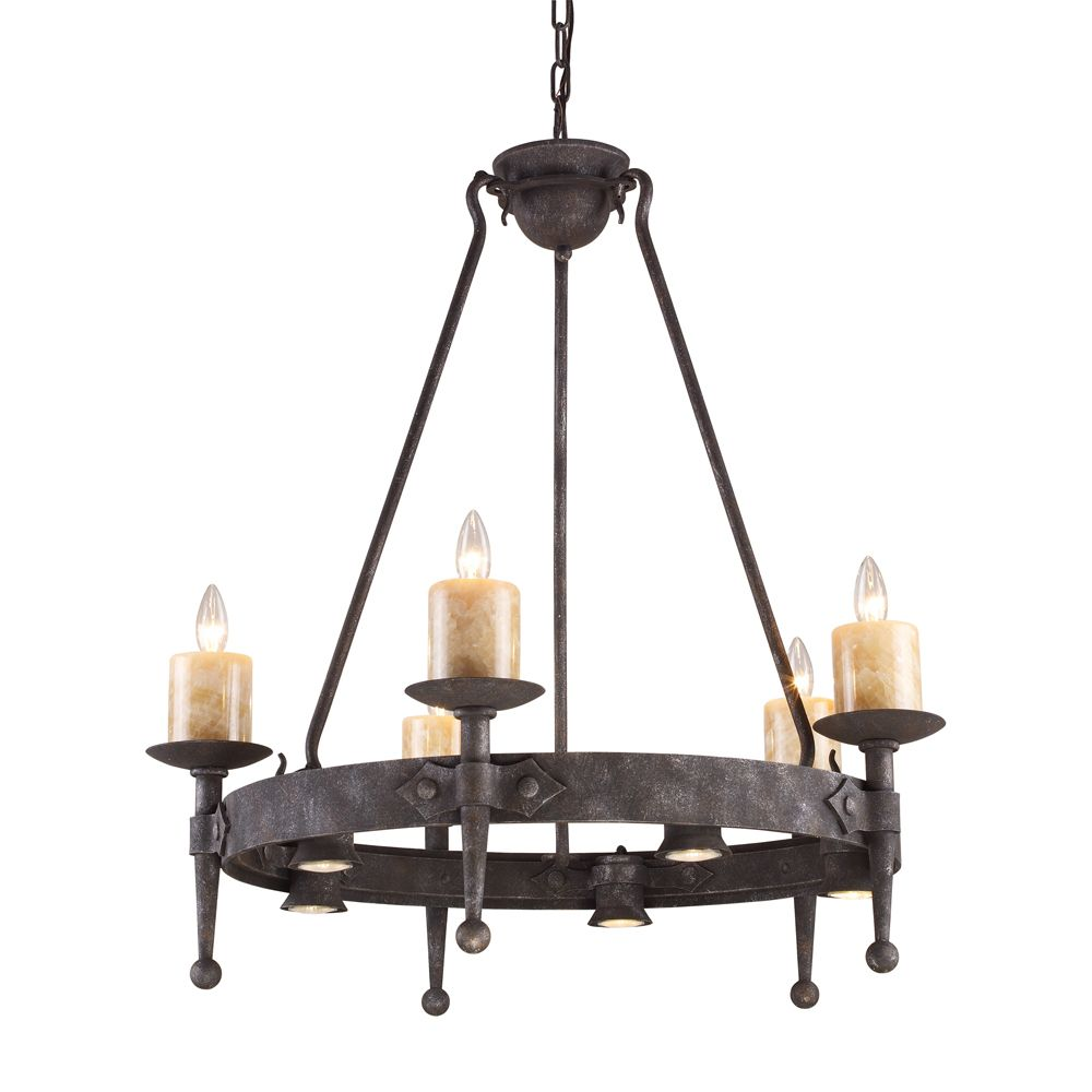 Titan Lighting 10-Light Ceiling Mount Chandelier in Mocha10-Light Ceiling Mount Chandelier in Mocha