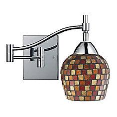 1-Light Wall Mount Polished Chrome Swing Arm