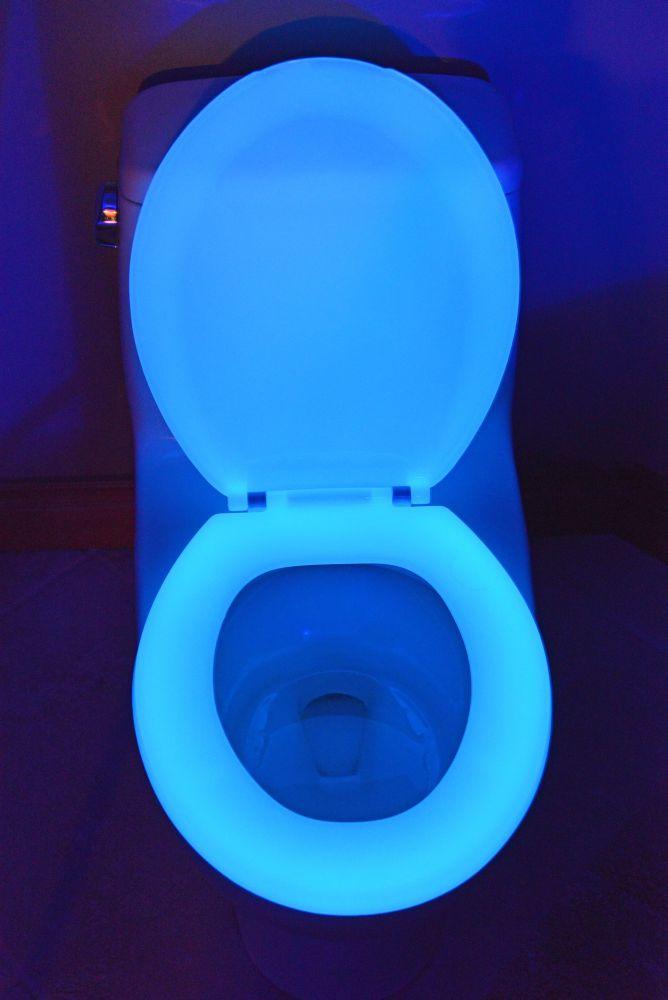 200 bleu rond les sièges de toilette
