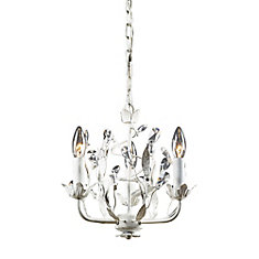 Hampton bay heritage antique white chandelier the home depot canada 3 light ceiling mount antique white chandelier aloadofball Gallery