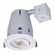 4-inch LED IC Recessed Gimbal Lighting Kit in White - ENERGY STAR®