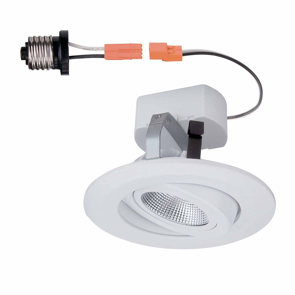 Commercial Electric 4-inch Integrated LED Recessed Gimbal Trim in White - ENERGY STAR®