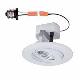 Commercial Electric Luminaire encastré à DEL, orientable avec garniture, blanc, 10cm (4po)- ENERGY STAR®