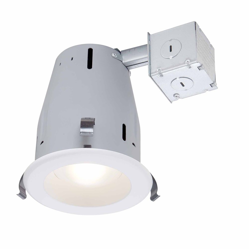 Commercial Electric 4-inch LED IC Recessed Gimbal Lighting Kit in White - ENERGY STAR®