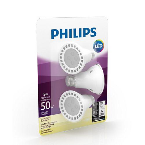 Philips 5W Soft White PAR20 LED Light Bulb (3-Pack)