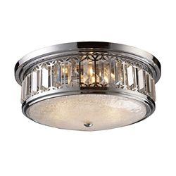Titan Lighting 3-Light Ceiling Mount Polished Chrome Flush Mount