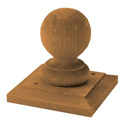 MicroPro Sienna Treated Wood Hudson Ball & Base