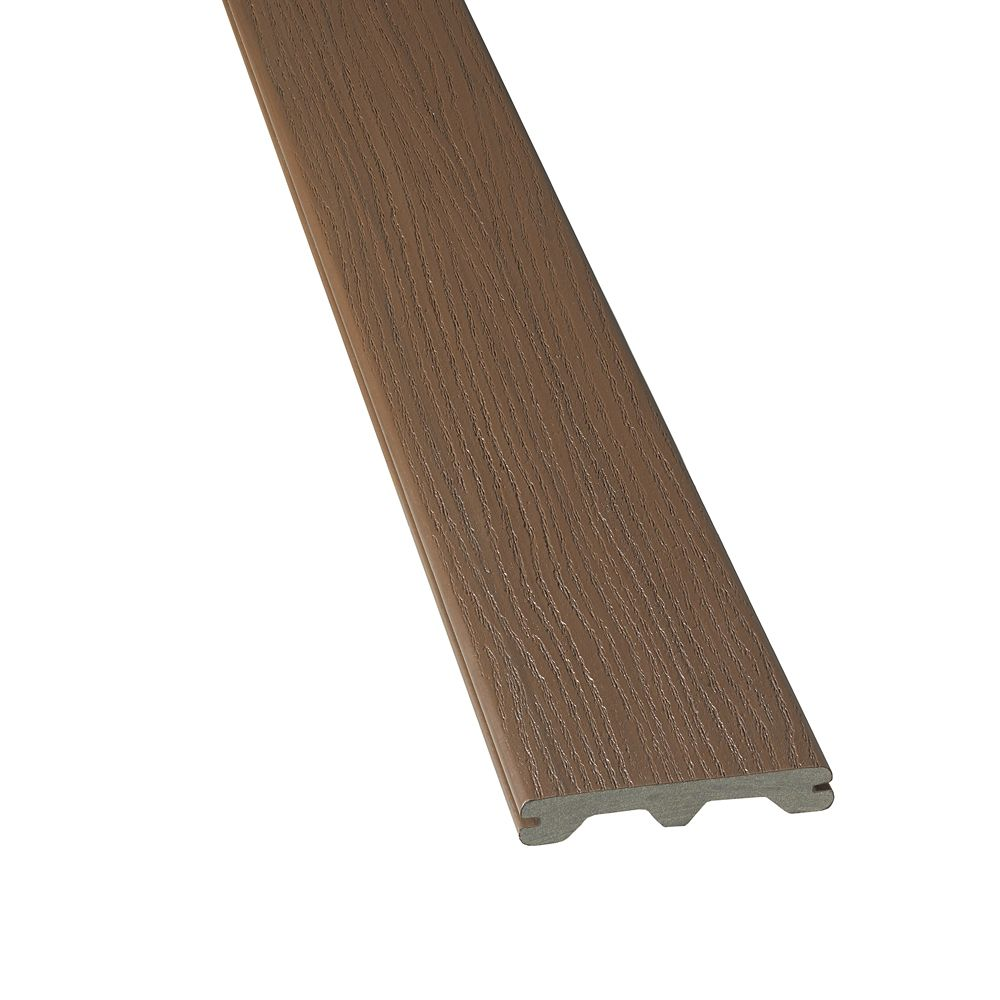 16 Ft. -  HP Tropics Composite Capped Grooved Decking - Bali Brown