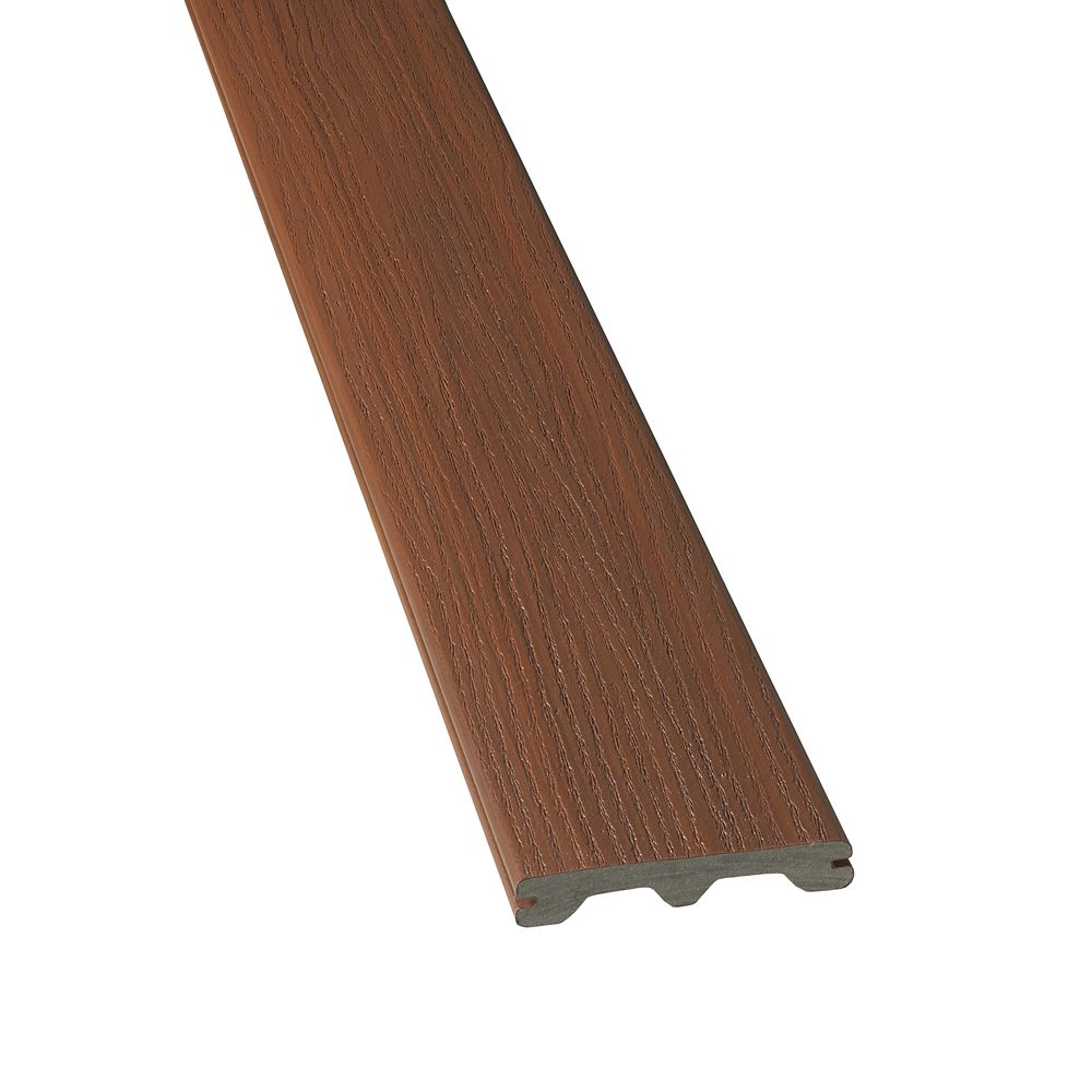 Veranda 16 ft hp tropics composite capped grooved for Capped composite decking prices