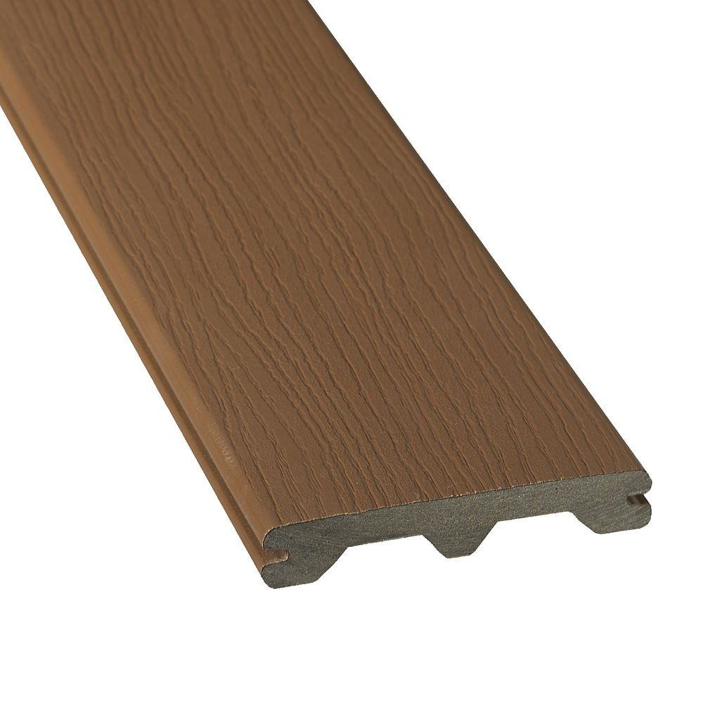 Veranda 20 ft hp composite capped grooved decking for Capped composite decking