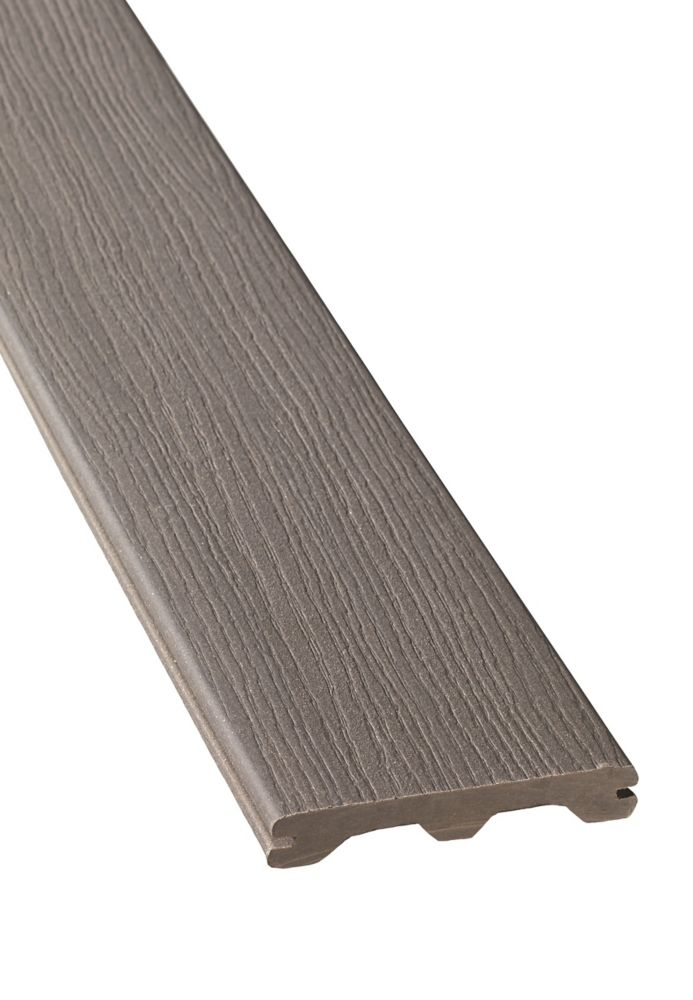 16 PI - Revêtement en Composite Rainuré - Gray