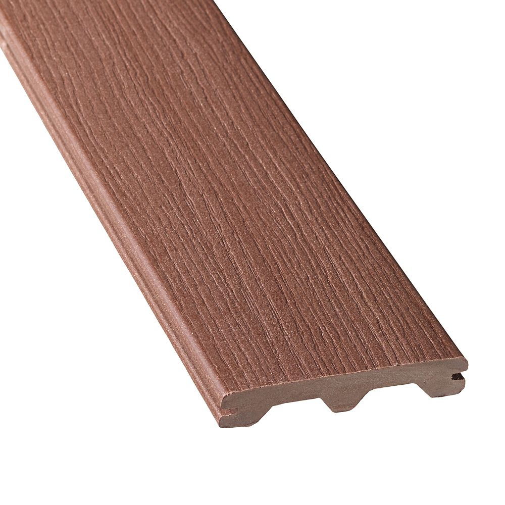 Veranda 16 ft composite grooved decking walnut the for Veranda composite decking