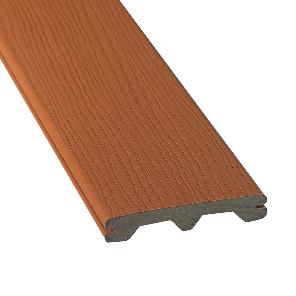 Veranda 20 ft composite grooved decking redwood the for Veranda composite decking