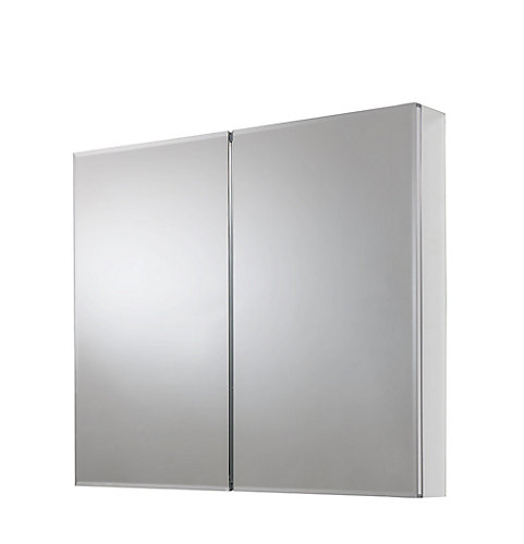 Glacier Bay 30 Inch X 24 Recessed Or Surface Mount Medicine Cabinet With Bi View Beveled Mirror In Silver The Home Depot Canada