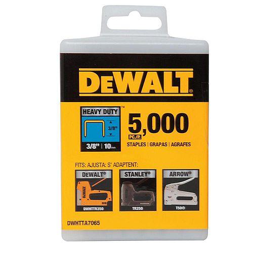 DEWALT 3/8-inch Heavy Duty Staples (5000-Pack)