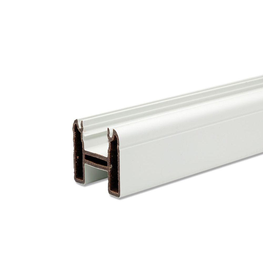 6 Ft. -  Universal Top/Bottom Rail - White