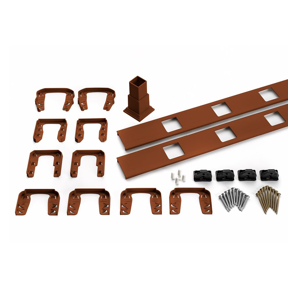 8 Ft.  -  Infill Rail Kit for Square Balusters - Horizontal - Fire Pit