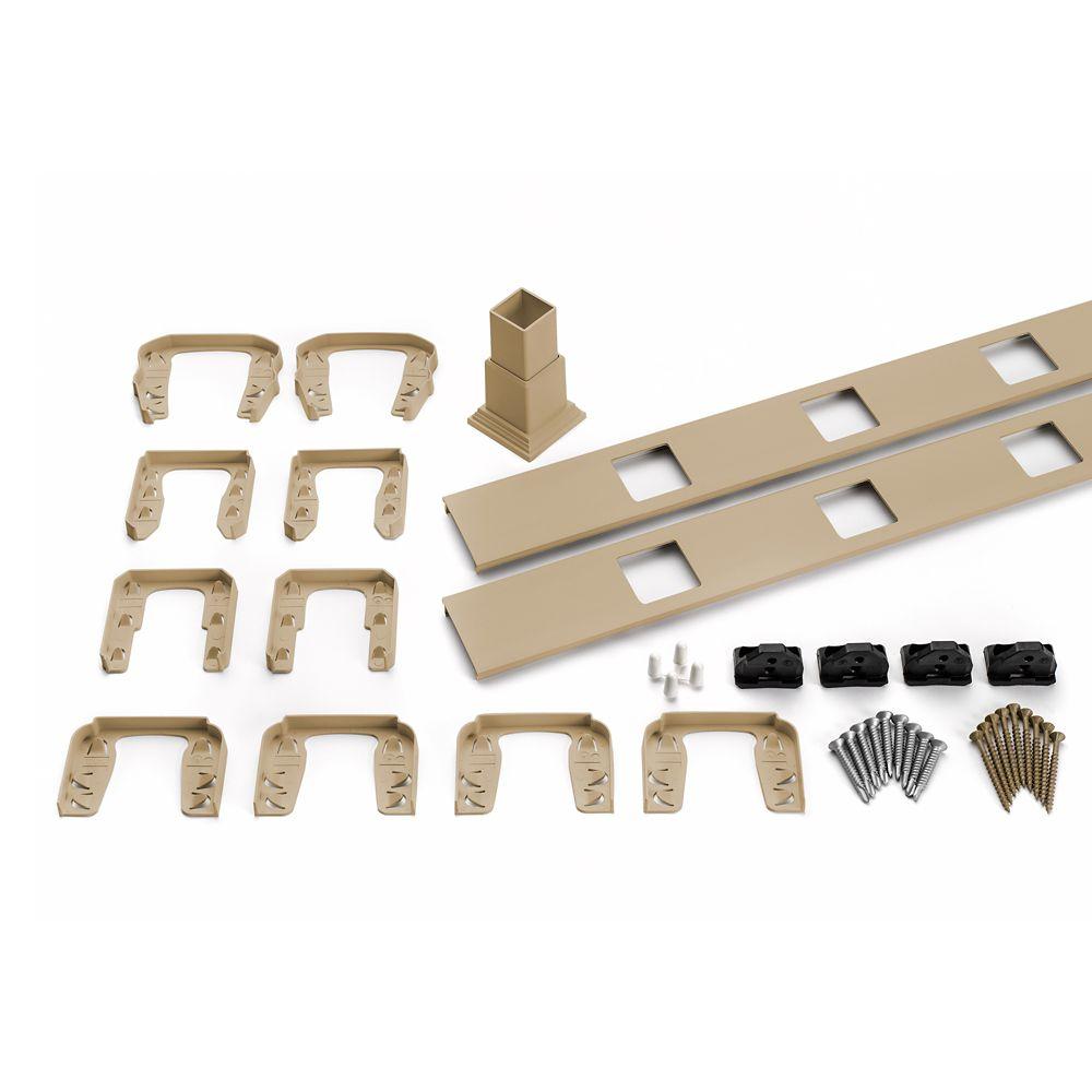 8 Pi. - Ensemble d'accessoires de Rampe pour Balustres Carrés - Horizontal - Rope Swing