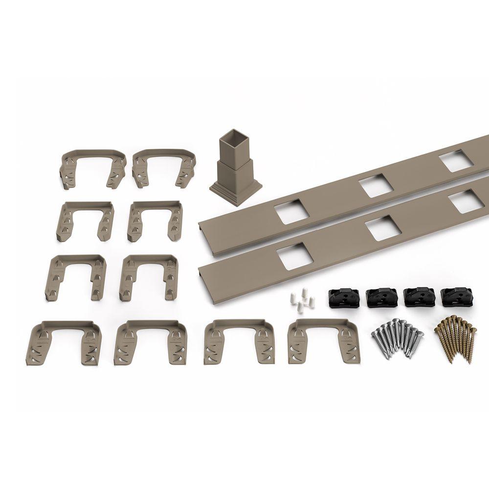 8 Ft.  -  Infill Rail Kit for Square Balusters - Horizontal - Gravel Path