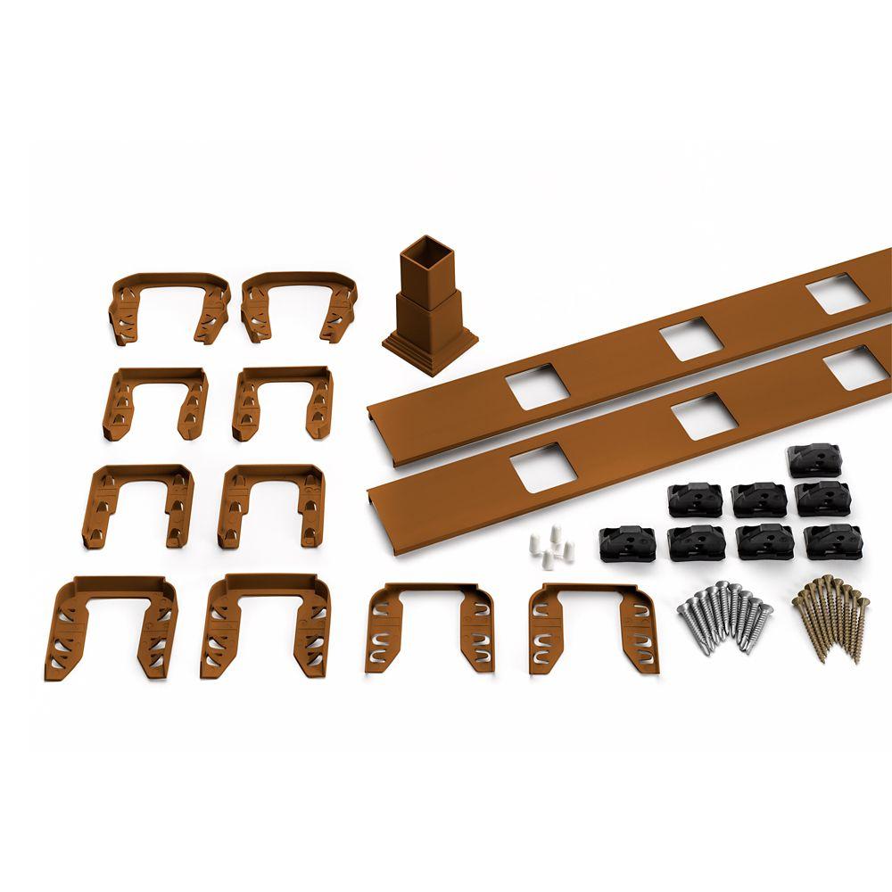 6 Pi. - Ensemble d'accessoires de Rampe pour Balustres Carrés - Escalier - Tree House