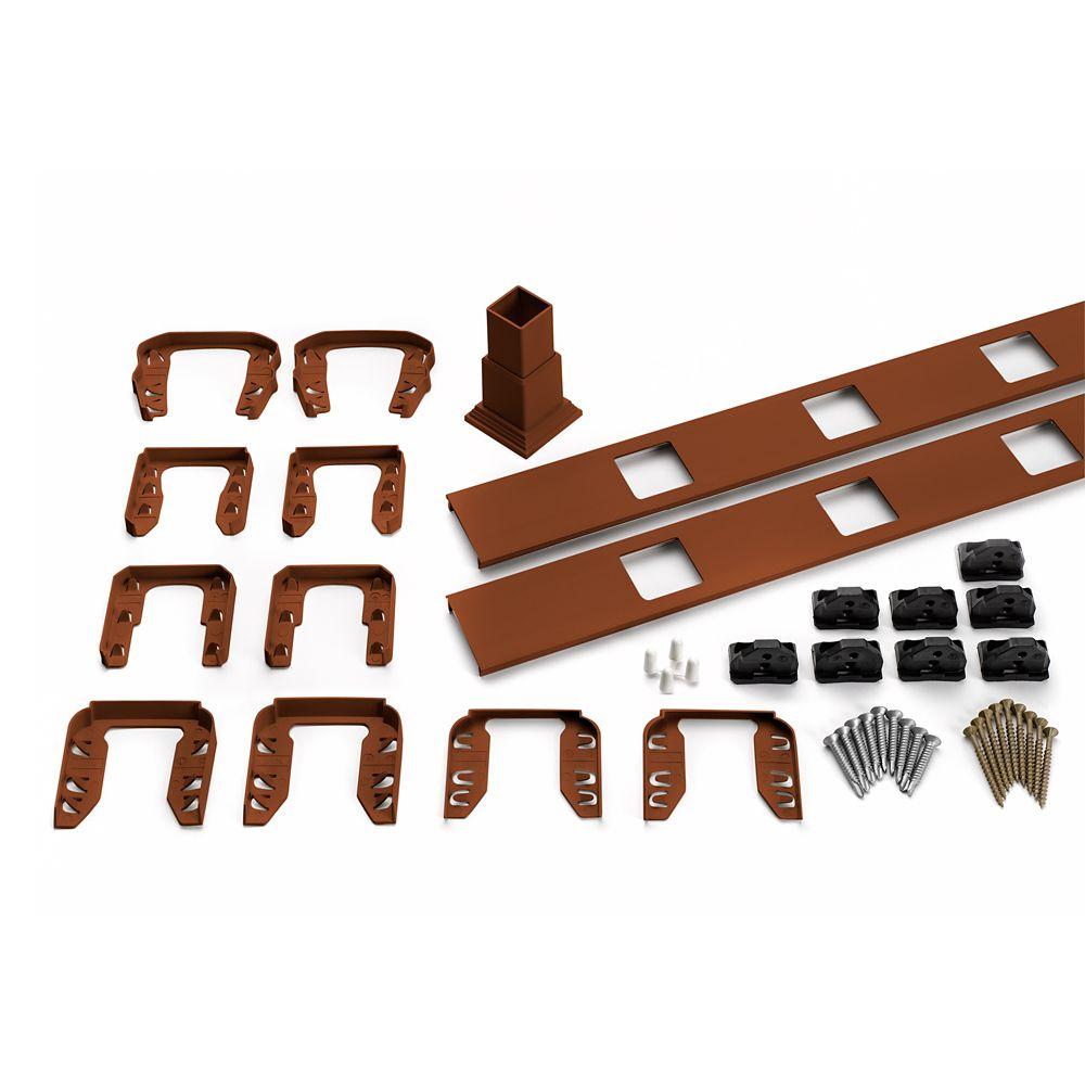 6 Pi. - Ensemble d'accessoires de Rampe pour Balustres Carrés - Escalier - Fire Pit