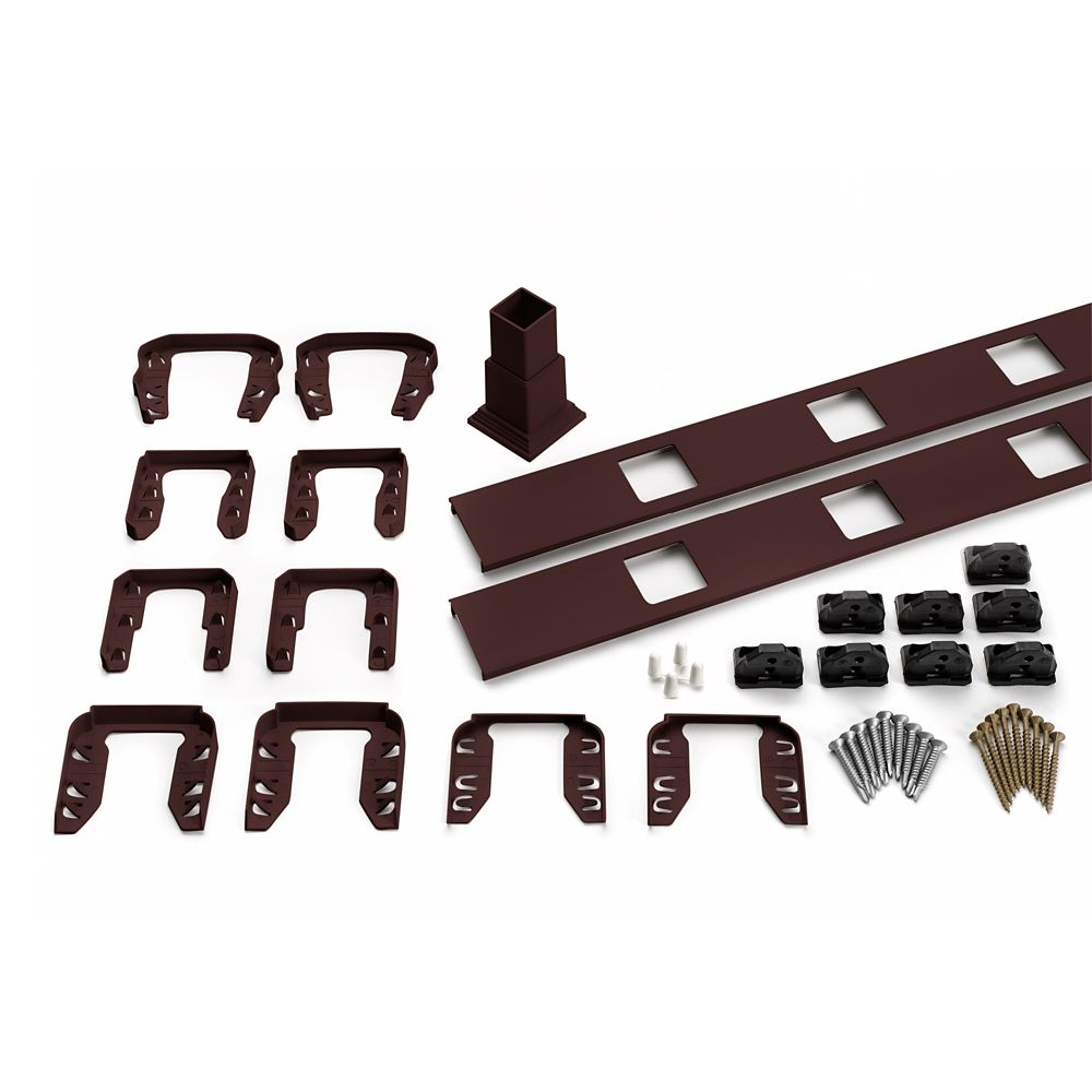 8 Ft.  -  Infill Rail Kit for Square Balusters - Stair - Vintage Lantern