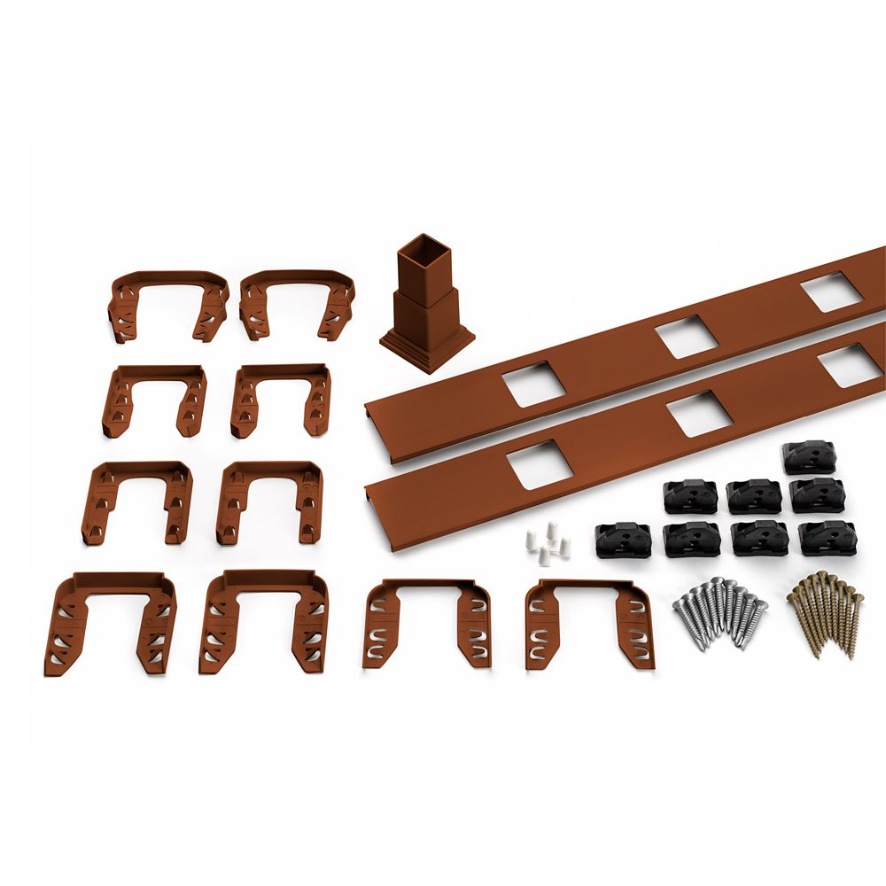 8 Ft.  -  Infill Rail Kit for Square Balusters - Stair - Fire Pit