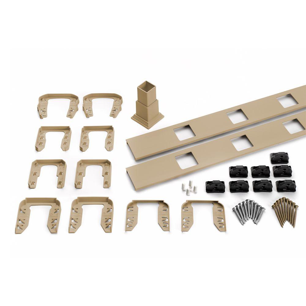 8 Pi. - Ensemble d'accessoires de Rampe pour Balustres Carrés - Escalier - Rope Swing