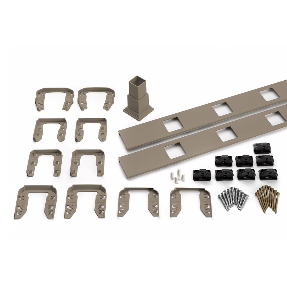 8 Ft.  -  Infill Rail Kit for Square Balusters - Stair - Gravel Path
