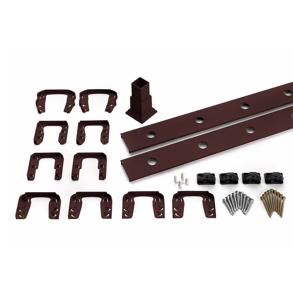 Trex 6 Ft. - Infill Rail Kit for Round Aluminium - Balusters - Horizontal Vintage Lantern
