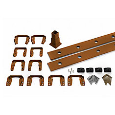 6 Ft. - Infill Rail Kit for Round Aluminum Balusters - Horizontal - Tree House