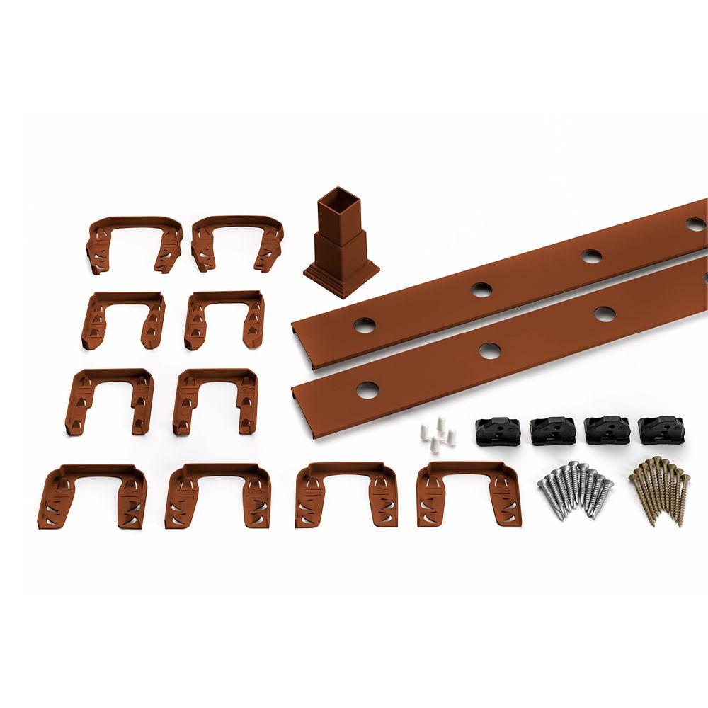 6 Pi. - Ensemble d'accessoires de Rampe pour Balustres en Aluminium - Horizontal - Fire Pit
