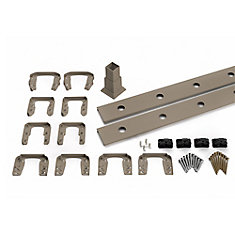 6 Ft. - Infill Rail Kit for Round Aluminum Balusters - Horizontal - Gravel Path