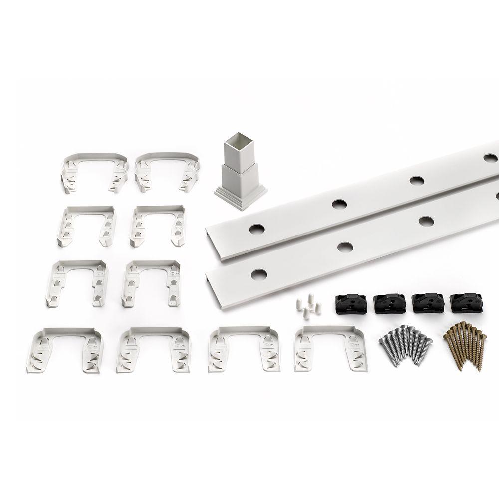 8 Ft.  -  Infill Rail Kit for Aluminum Balusters - Horizontal - White