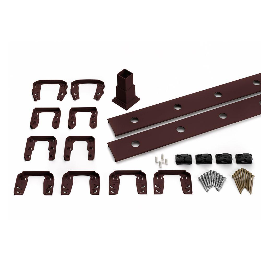 8 Pi. - Ensemble d'accessoires de Rampe pour Aluminium rond - Balustres - Horizontal Vintage Lant...