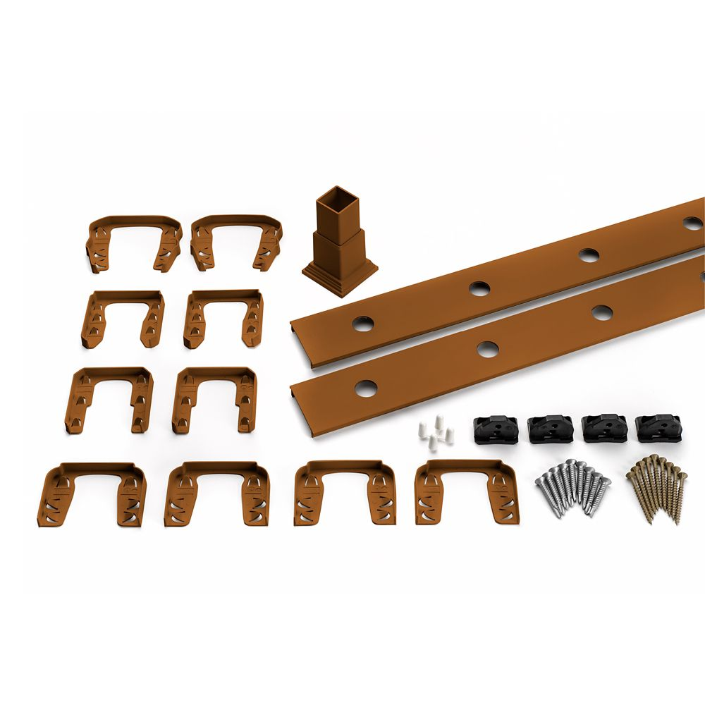 8 Ft.  -  Infill Rail Kit for Round Aluminium - Balusters - Horizontal Tree House