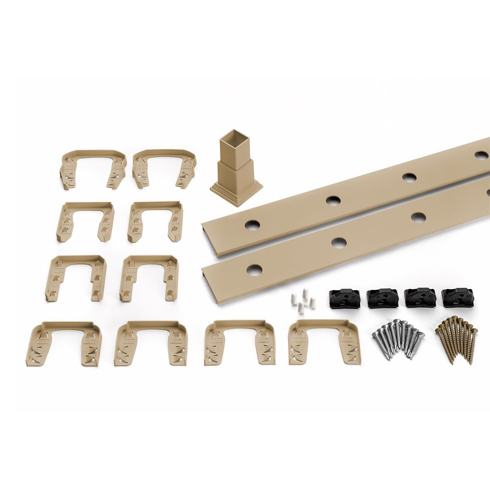 8 Ft.  -  Infill Rail Kit for Round Aluminium - Balusters - Horizontal Rope Swing