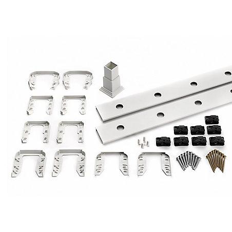 ensemble daccessoires de rampe pour aluminium rond balustres escalier blanc home depot canada - Rampe Escalier Brico Depot1998