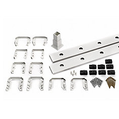 6 Ft. - Infill Rail Kit for Round Aluminium - Balusters - Stair White