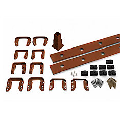 6 Ft. - Infill Rail Kit for Round Aluminium - Balusters - Stair Fire Pit