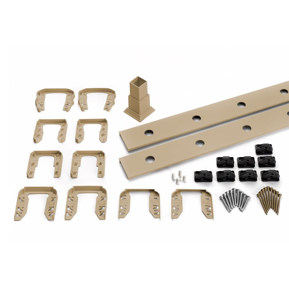 6 Pi. - Ensemble d'accessoires de Rampe pour Balustres Ronds en Aluminium - Escalier - Rope Swing