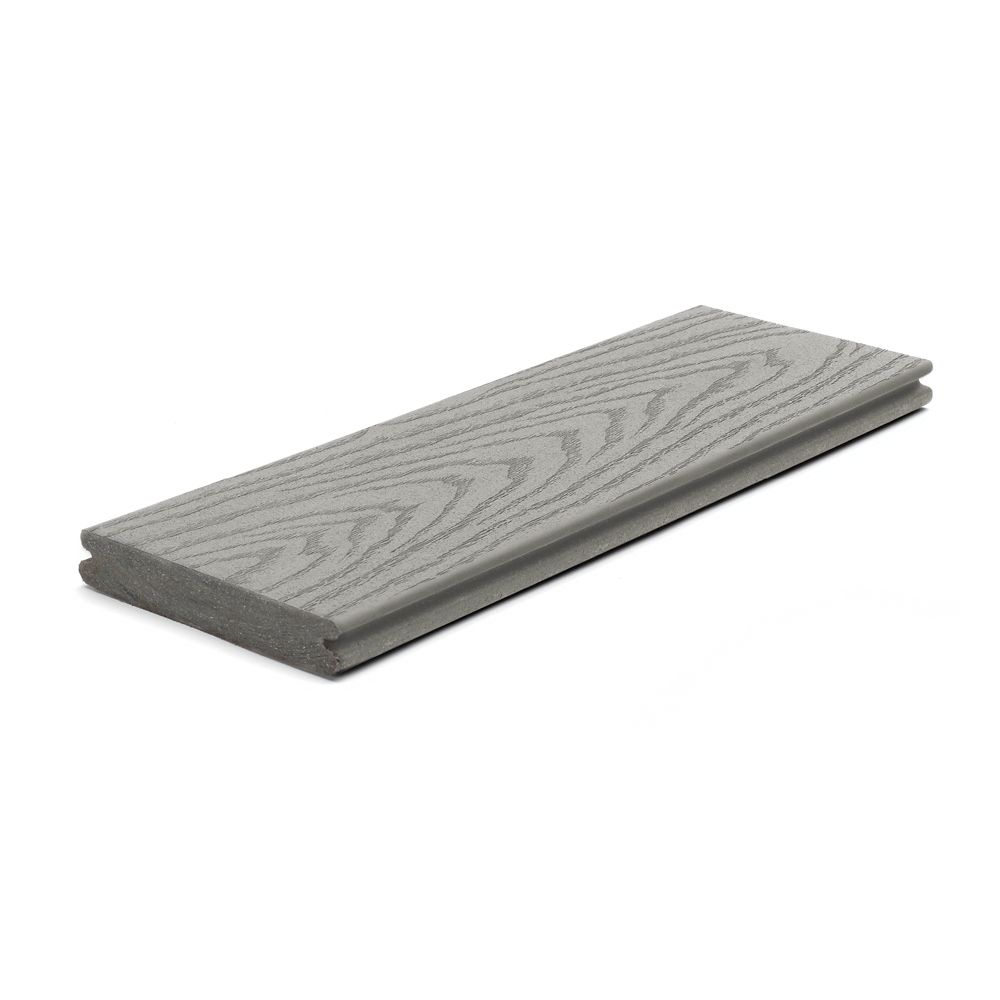 Trex 1-inch x 5 1/4-inch x 12 ft. Select Capped and Grooved Composite Decking in Pebble Grey