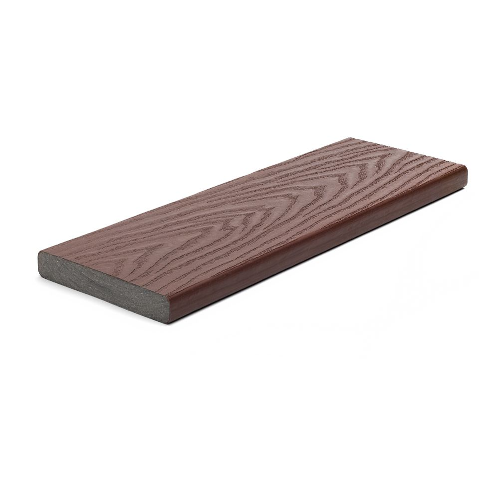 Trex 16 ft select composite capped square decking for Capped composite decking