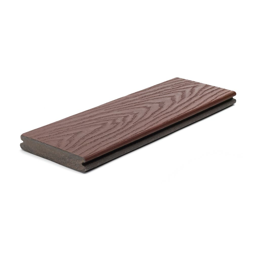 Trex 20 ft select composite capped grooved decking for What is capped composite decking