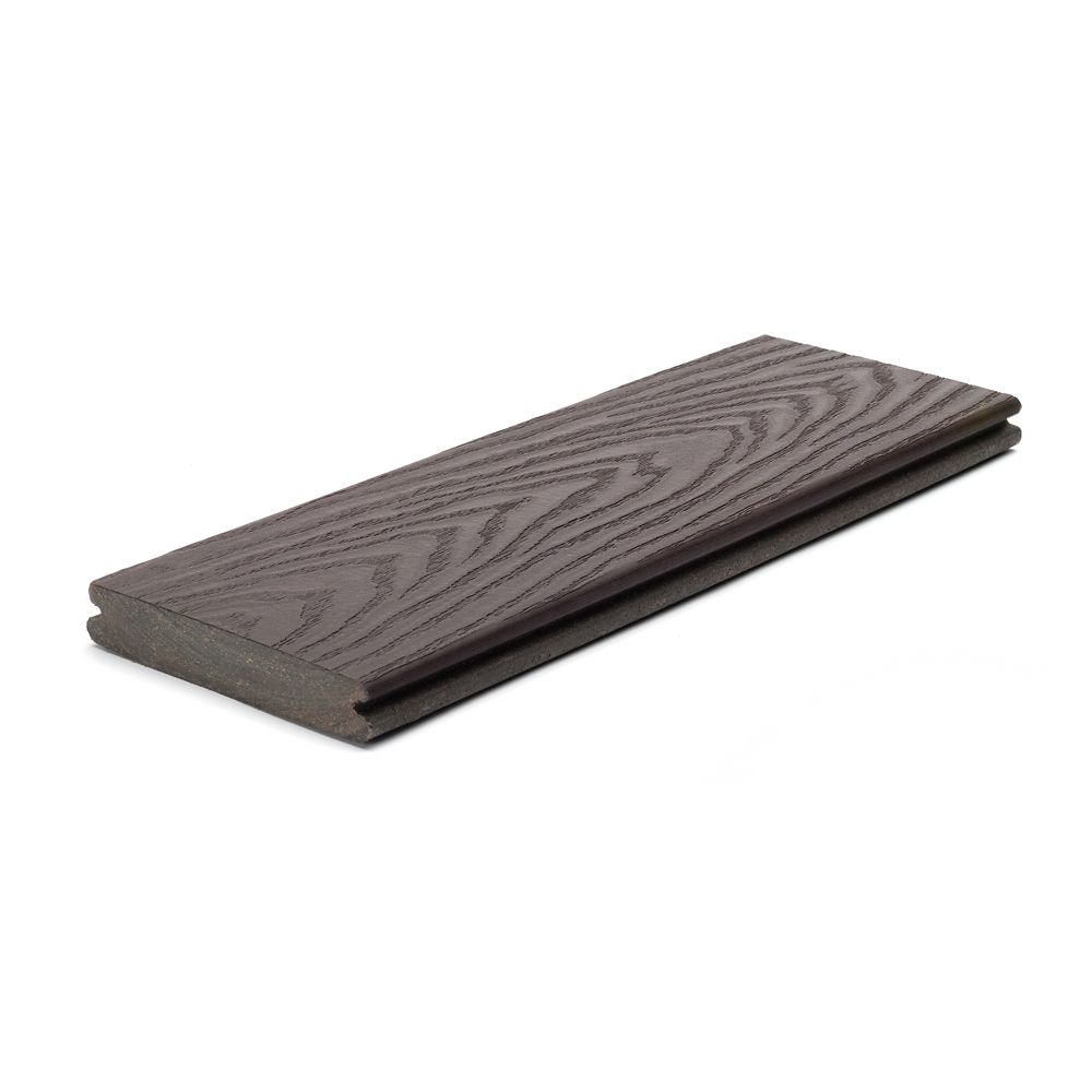 20 Ft. - Select Composite Capped Grooved Decking - Woodland Brown