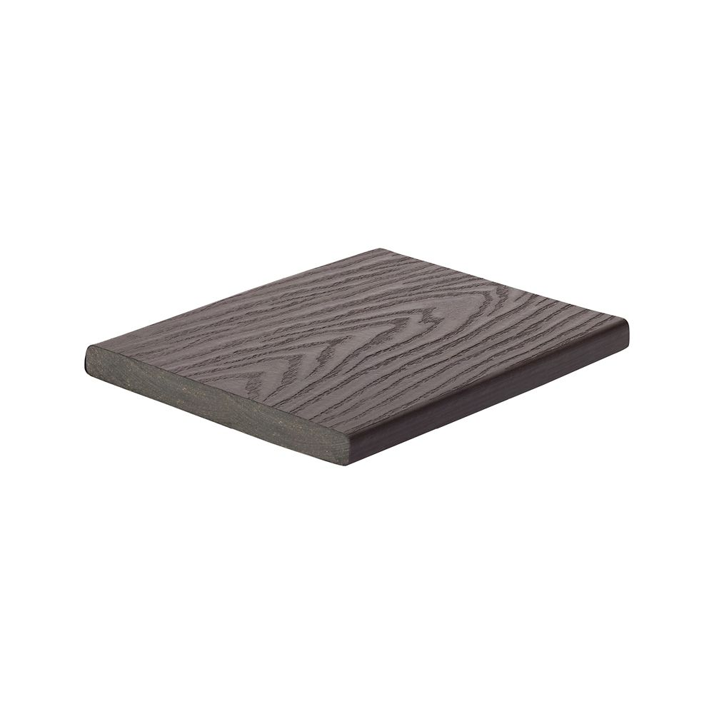 12 Ft. -  Select Composite Capped Fascia Woodland Brown - 1  In. x 8  In.